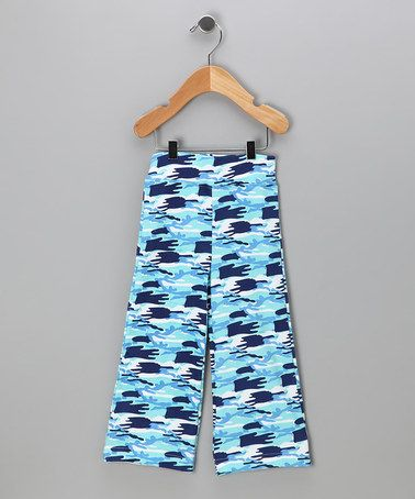Loving this Blue Camo Karate Pants - Infant & Toddler on #zulily! #zulilyfinds