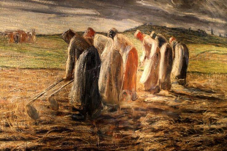 La raccolta delle patate, 1885-86  Giovanni Segantini  - -