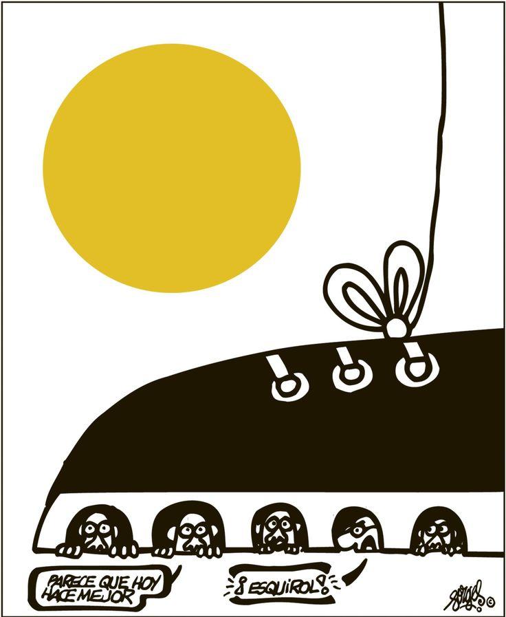 [Forges] Escondidos en Bruselas (y un esquirol)  Desde el principiotoda esta historia me recuerda la película Escondidos en Brujas (In Bruges 2008) si bien no una obra maestra sí digna de volver a verla de nuevo por algunas de las curiosidades de su trama.  Forges nos hace volver a la realidad:  Forges en El País 07/12/2017Archivado en: Cine España Forges Humor