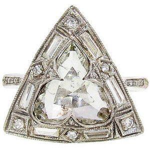 CATHY WATERMAN Diamond Triangle Ring                                                                                                                                                      More