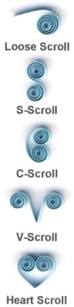 5 Basic Quilling Scrolls