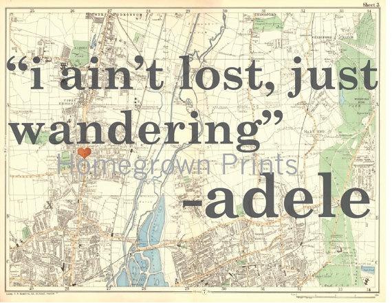 Adele Hometown Glory Lyrics