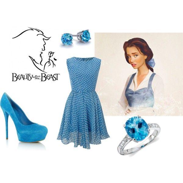 Beauty and the BeastDisney Princess Outfits, Princesses Outfit, Polka Dots, Beauty Beast, Cute Dresses, Inspiration Outfit, Modern Disney Princesses, Inspired Outfits, Beast Inspiration