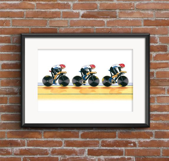 Team GB Women's Cycling Pursuit Team London by GMorganIllustration