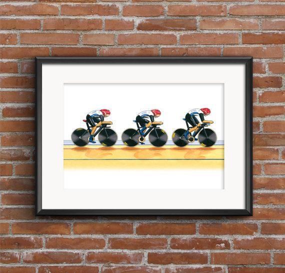Team GB Women's Cycling Pursuit Team London by GMorganIllustration