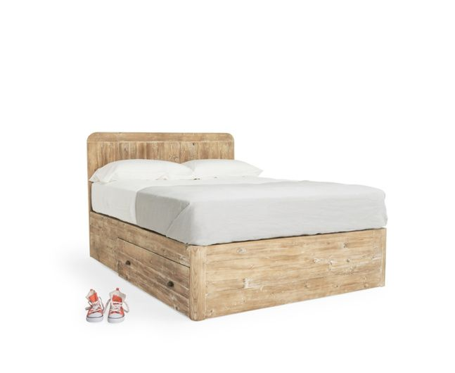 Our Woody is a beautifully nifty storage bed. We spent hours sifting through reclaimed fir to get the look of this bed just right and we love it!