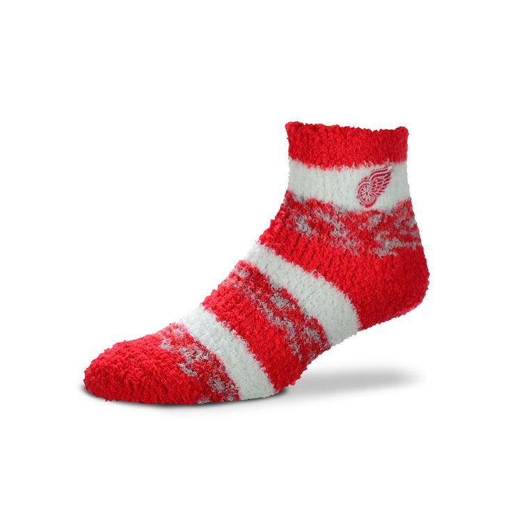 Women's For Bare Feet Detroit Red Wings Pro Stripe Slipper Socks, Ovrfl Oth