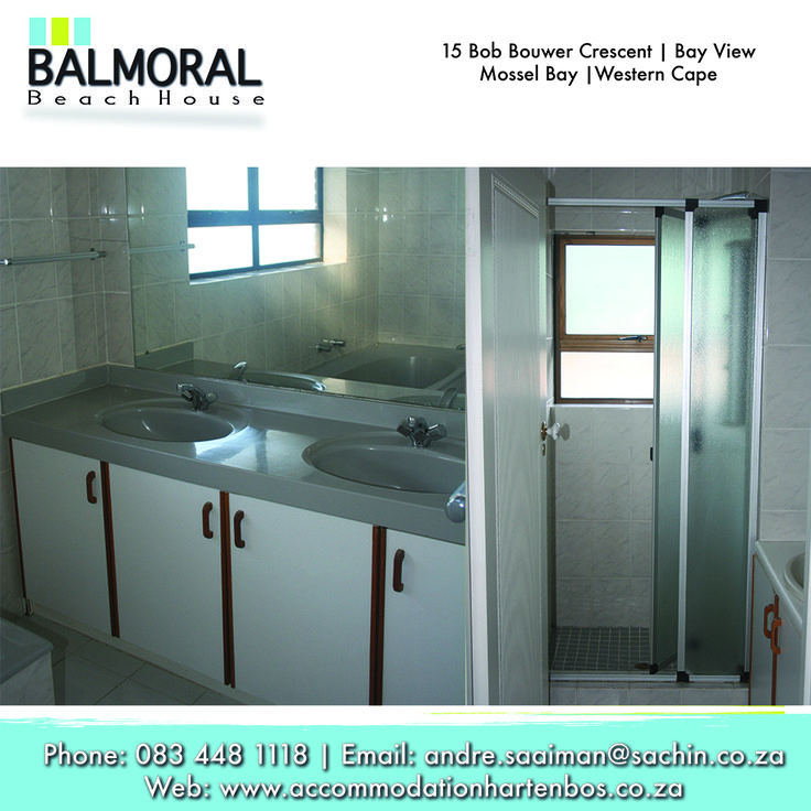Here at Balmoral we have beautiful bathrooms for your use. Call us at: 083 448 1118 E-Mail: andre.saaiman@sachin.co.za #accommodation #Hartenbos #Bathrooms