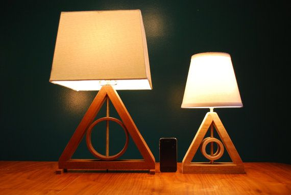Harry Potter Deathly Hallows MINI Table Lamp Harry Potter Kids Lamp Living Room Lamp Geometric Lamp Master of Death