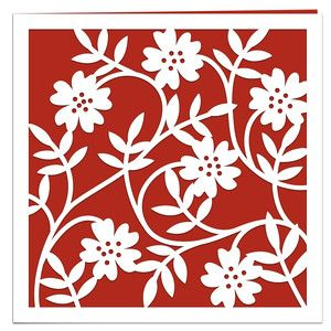 Silhouette Design Store - View Design #141551: wild roses papercut card