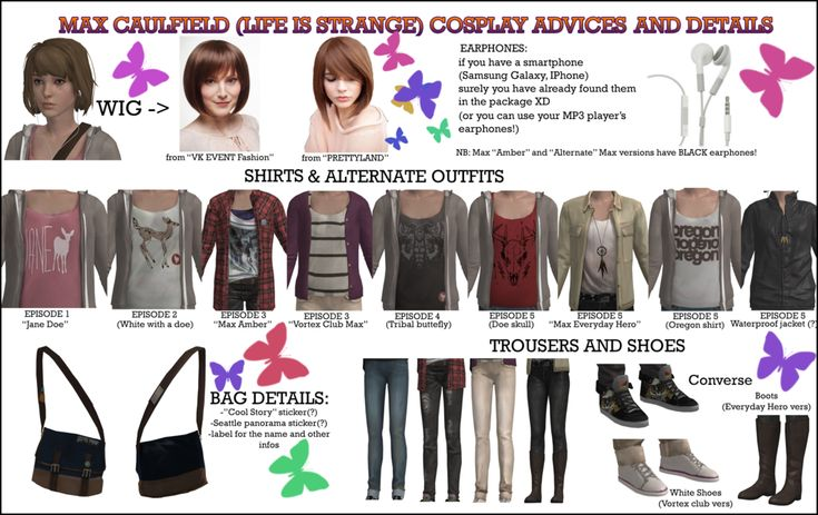 First time that I make a cosplay tutorial! I hope it could be useful <3 I leave you all this advices to make Max Caulfield's cosplay :3 You can find the wigs I have recommended here: FIRST EXAMP...