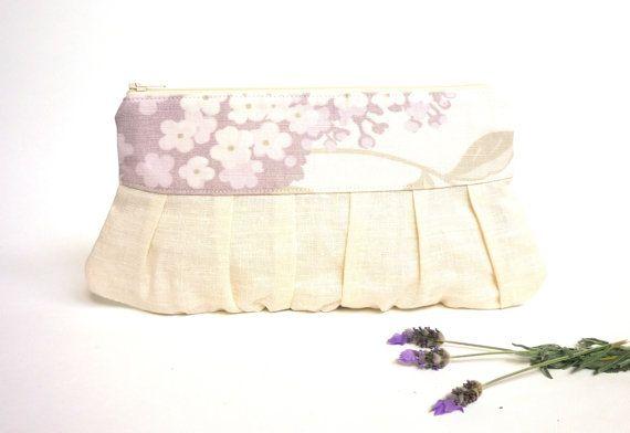 Lilac wedding clutch formal clutch prom purse by maplemist on Etsy #weddingaccessory #bridesmaidgift #rusticwedding #handmadewedding