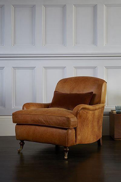 Bon Blackdown Chair In Galloway Ranch Leather #sofasandstuff #armchair  #interiordesign #leather