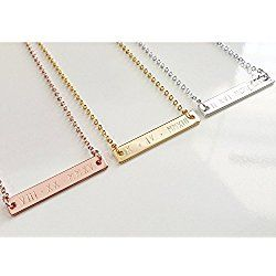 Dainty Roman Numeral Necklace, Personalized Gold Silver Rose Gold Bar Necklace Bridesmaid Gift