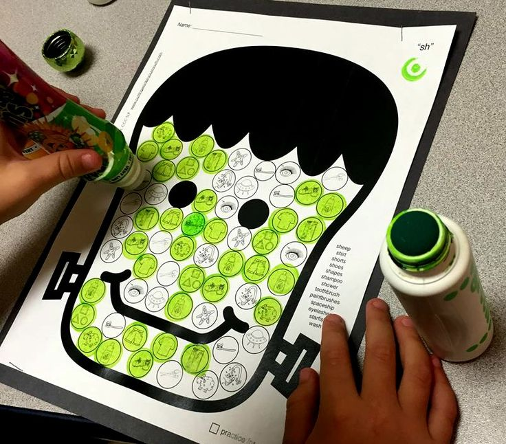 Halloween Dot Art, which its itty bitty artic targets, is the most fun (and no prep) way to tackle articulation drill! Make a spooky masterpiece, then send it home for more practice! 2 pages for EVERY phoneme!