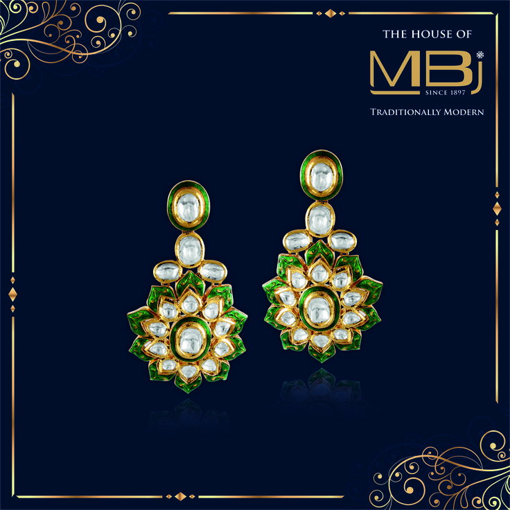 An ode to art and legacy #TheHouseofMBj #MBjIndia #Earrings #Luxury #Bridal #Traditional #Jewellery #jewelry