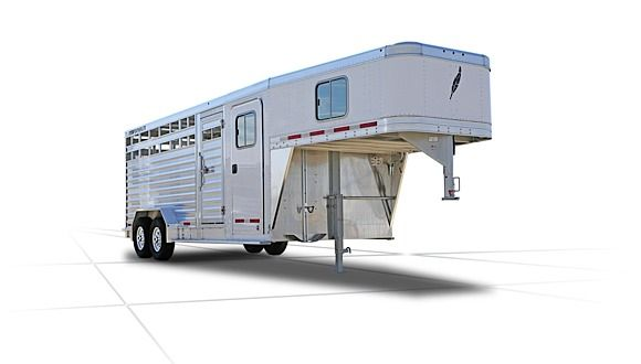 Gooseneck Livestock Trailers - 8413 Combo Trailer - Featherlite Stock Trailers