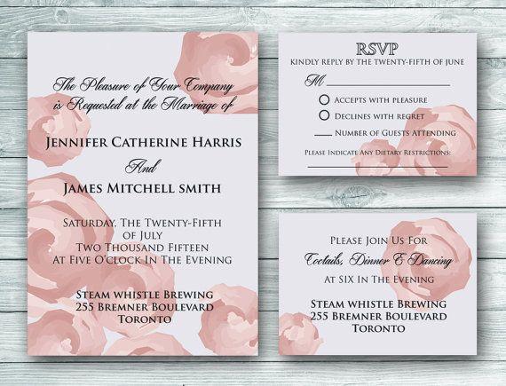 Sophia Wedding Invitation Set  Digital by WeddingGlitzPrints