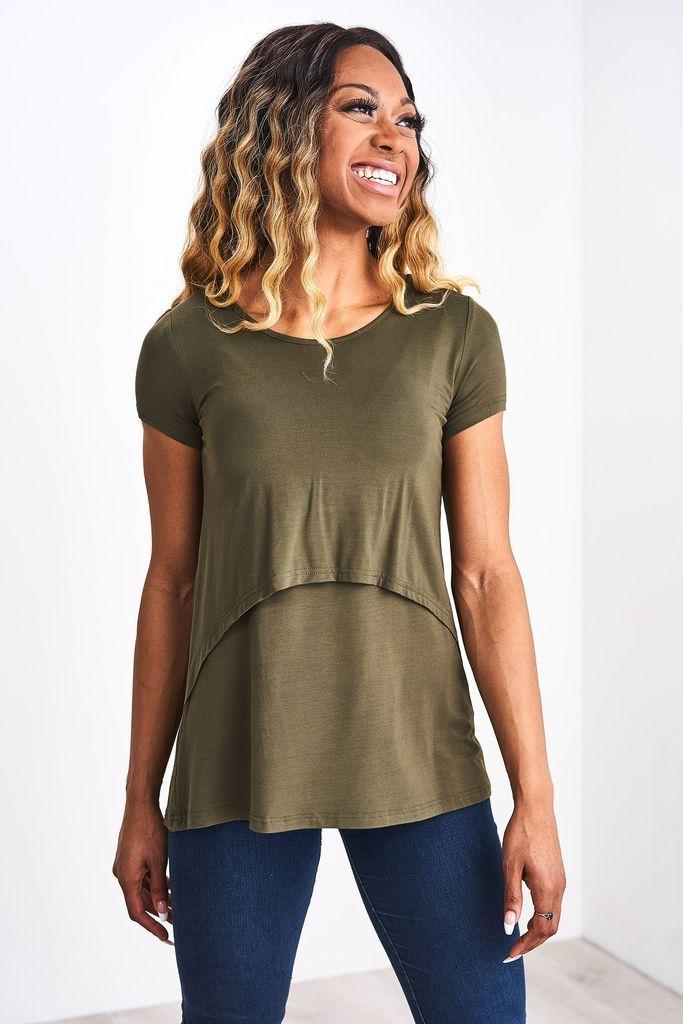 355d707f7082e Nursing T-Shirt 2.0   Breasty Bestie   Nursing tops, Tunic tops, Tops