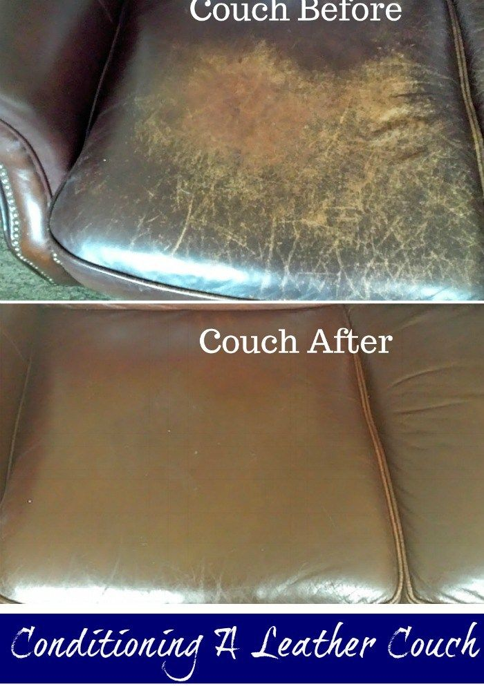 Homemade Leather Furniture Conditioner #25: Conditioning A Genuine Leather Couch Using A Common Household Item. Make Sure To Test In