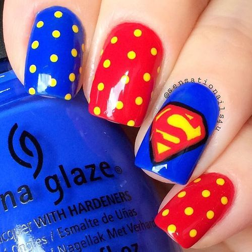 "Just Some Things I Like — Sensationails4u on Instagram: ""Superman Nails ..."