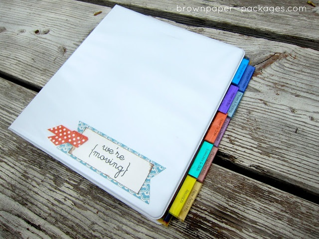 Moving?: a binder to keep you organized! Something that would help when we move next pcs!