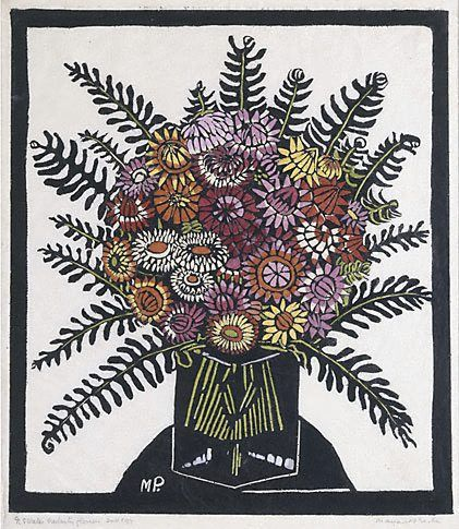 Margaret Preston - Helichrysum (everlasting flowers or strawflowers)