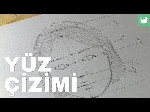 Temel Karakalem Resim Portre Dersleri 8:Saç Çizimi - YouTube