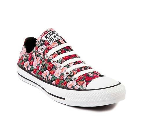 Floral converse! Cute. (journeys)