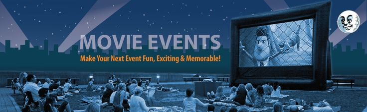 Outdoor movie screen rental for parties! FunFlicks Movie Events