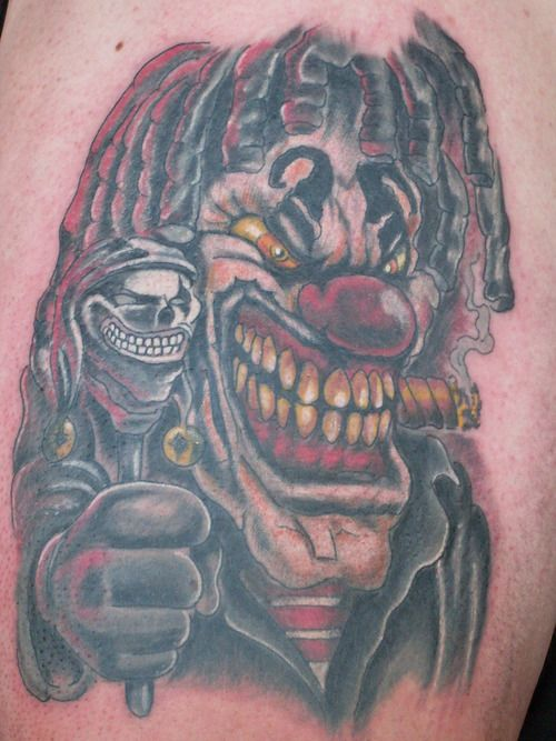 33 best wiked and crazy clowns tattoos images on pinterest clown tattoo design tattoos and. Black Bedroom Furniture Sets. Home Design Ideas