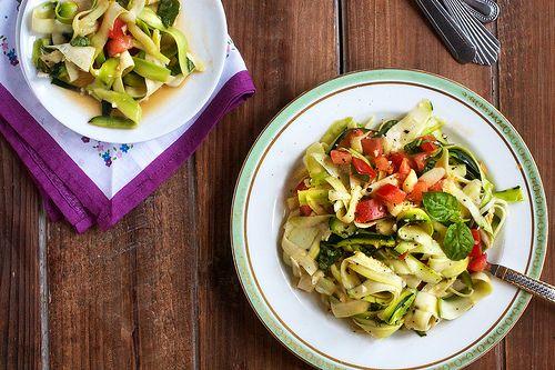 Salad Of Garlicky Zucchini Ribbons | Post Punk Kitchen | Vegan Baking & Vegan Cooking