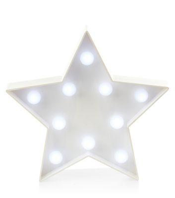 - Star design- LED light detail- Batteries not included