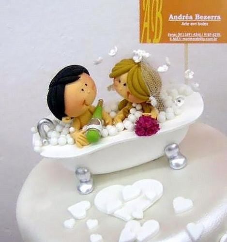 bubble bath - BOLO CASAMENTO by Andréa Bezerra