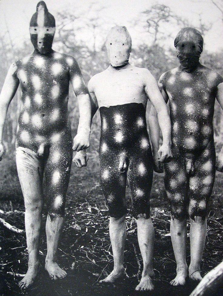 Selk´nam People - Tierra del Fuego. Photo by Martín Gusinde.: Martín Gusind, Selk Nam People, Yaghan People, Body Paintings, Selknam People, Fire, Ground, Masks, Tribal Body
