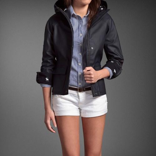 """New Abercrombie Kids Girls Preppy Rubber Rain Coat """"Addison"""" for Chloe"""