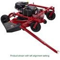 The Swisher T14560A TrailMower tow-behind finishing mower is right up your alley if you have a big mowing job. Designed to dramatically reduce mowing time, the T14560A TrailMower attaches to ATV's, lawn tractors and other utility vehicles to cut large lawns and meadows fast. Powered by a 14-1/2HP Briggs and Stratton I/C OHV engine for finish-cut quality, every mowing. The 60-inch side-discharge cutting deck cuts wide swaths and spreads the grass clippings out very evenly to avoid clogging.