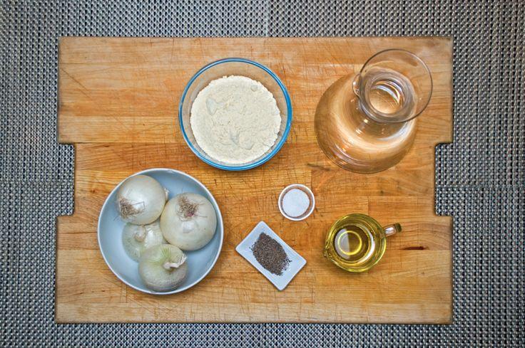 Frittata ceci e cipolle - Gli ingrediendi