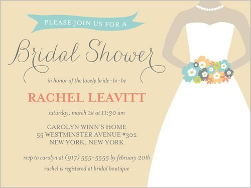 lovely bouquet bridal shower invitation