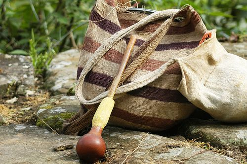 photo of the 'Poporo' that Kogi males received when they became of age. The Poporo are hollow gourds filled with 'lime'.