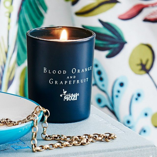 MOZI's perfumed candles combine fragrance with flamboyance.