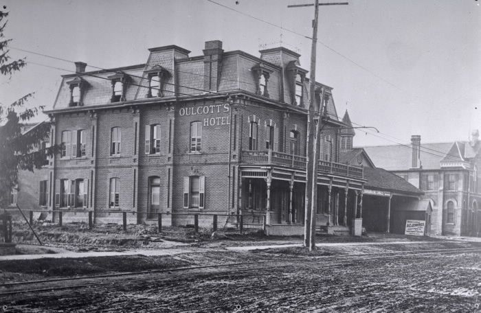 Image- Oulcott's Hotel, Yonge St., n.w. cor. Helendale Ave. Toronto Reference Library	Baldwin	974-4-5 (1.4 miles)