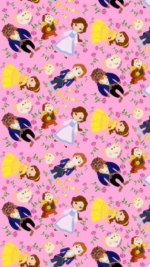 Children's Spaces   Patterns for Babies   Art Print   Illustration   Poster   Decoração Infantil   Padronagem para Bebês   Ilustração para Impressão beauty and the beast