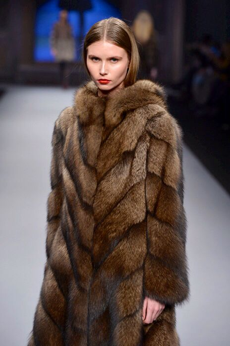 Fisher #Fur Hooded #Coat.. #fashion on catwalk