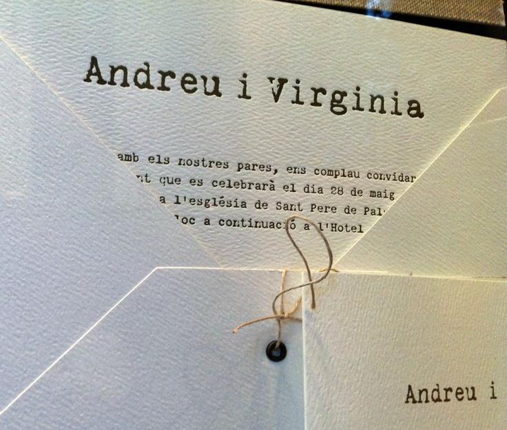 Una invitación de bodas realizada en Letterpress por Tinta Gris Barcelona #letterpress #wedding