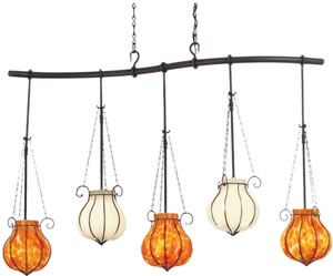 eclectic lighting. kalco 5 light island pendants in black finish with snowflake and flambeaux glass eclectic u0026 rustic multiple brand lighting discount
