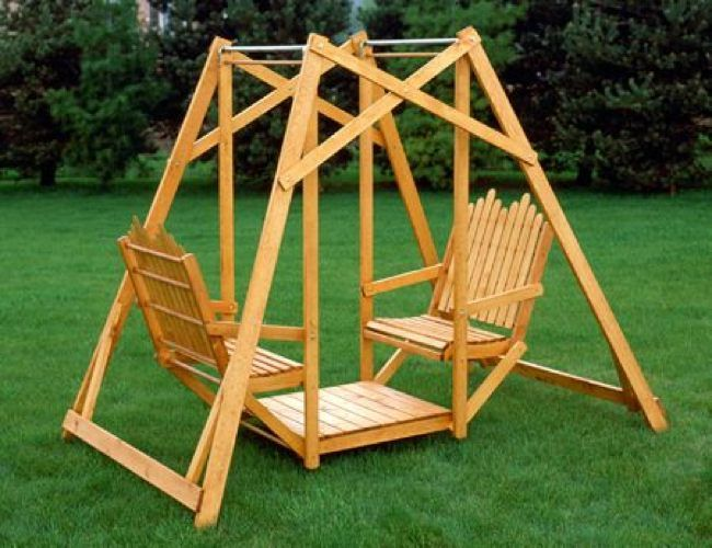 Best 25 lawn swing ideas on pinterest house garden - Backyard swing plans photos ...