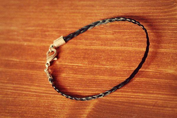 DIY horsehair bracelets