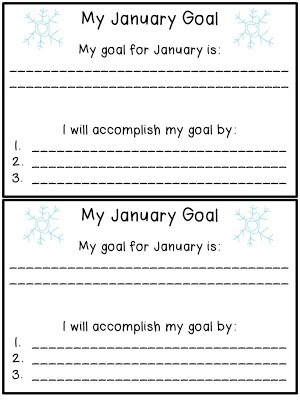 The Fabulous First Grade: Free Goal Setting sheets for every month!