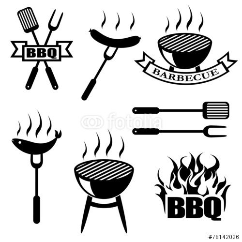 Vector: BBQ, set icons, logos,badges, labels
